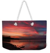 Streaming Sunset Weekender Tote Bag
