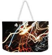 Street Busy At Night  Abstract Weekender Tote Bag