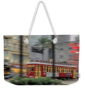 Street Car Flying Down Canal Weekender Tote Bag