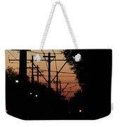 Street Car Sunset Weekender Tote Bag