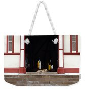 Street Dog At Church Weekender Tote Bag