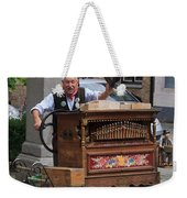 Street Entertainer In Bruges Belgium Weekender Tote Bag