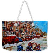 Street Hockey Hotel De Ville Weekender Tote Bag