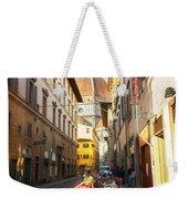 Street In Florence Weekender Tote Bag