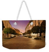 Street In Ostrow Tumski By Night In Wroclaw Weekender Tote Bag