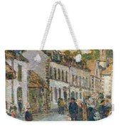Street In Pont Aven Weekender Tote Bag by Childe Hassam