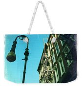 Street Lamp And Fire Escape Weekender Tote Bag