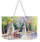 Street Musician In Pollenca Weekender Tote Bag