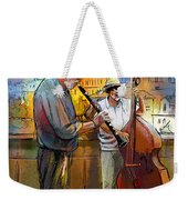 Street Musicians In Prague In The Czech Republic 01 Weekender Tote Bag