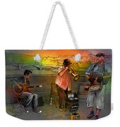Street Musicians In Prague In The Czech Republic 03 Weekender Tote Bag