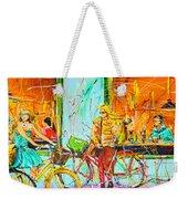 Street Of Amsterdam - Four Girls Weekender Tote Bag