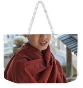 Street Portrait Of A Young Monk Weekender Tote Bag