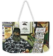 Street Preacher On The A Train Weekender Tote Bag