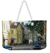 Street Scene In Strangnas Weekender Tote Bag