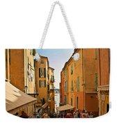 Street Scene In Villefranche Weekender Tote Bag