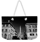 Street Scene With Transamerica Pyramid From Chinatown  Weekender Tote Bag