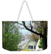 Street With Forsythia Weekender Tote Bag