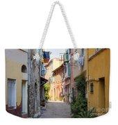 Street With Sunshine In Villefranche-sur-mer Weekender Tote Bag