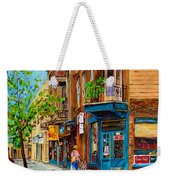 Streets Of Montreal Over 500 Prints Available By Montreal Cityscene Specialist Carole Spandau Weekender Tote Bag