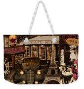 Streets Of Paris Weekender Tote Bag