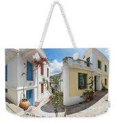 Streets Of Skopelos Weekender Tote Bag