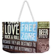 Stress Free Zone  Weekender Tote Bag
