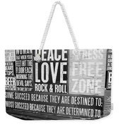 Stress Free Zone Too Weekender Tote Bag