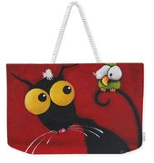 Stressiecat And The Bird Weekender Tote Bag