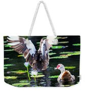 Stretching Out Weekender Tote Bag