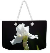 Striking White Iris Weekender Tote Bag
