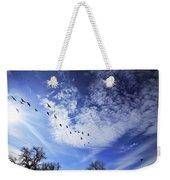String Of Geese Weekender Tote Bag