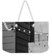 String Of Ideas Black And White Weekender Tote Bag
