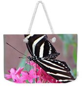 Striped Beauty - Butterfly Weekender Tote Bag