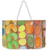 Striped Colorful Pattern With Croissants  Weekender Tote Bag