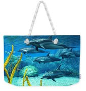 Striped Dolphins Weekender Tote Bag
