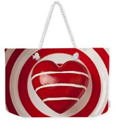 Striped Heart In Bowl Weekender Tote Bag by Garry Gay