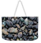 Striped Pebbles Weekender Tote Bag
