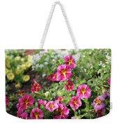 Striped Petunias Weekender Tote Bag