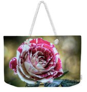 Striped Rose  Weekender Tote Bag