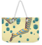 Striped Stockings Weekender Tote Bag