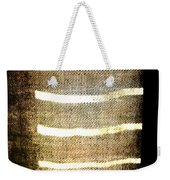 Stripes And Texture Weekender Tote Bag