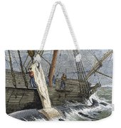 Stripping Whale Blubber Weekender Tote Bag by Granger