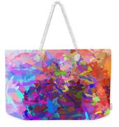 Strips Of Pretty Colors Abstract Weekender Tote Bag