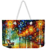 Stroll In The Fog Weekender Tote Bag