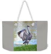 Strutting Sandhill Crane Weekender Tote Bag