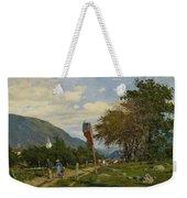 Strutzel, Otto 1855 Dessau - 1930   On The Way Home. In The Background The Steeple Of Garmisch-parte Weekender Tote Bag