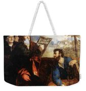 Sts John And Bartholomew With Donors 1527 Weekender Tote Bag