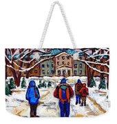 L'art De Mcgill University Tableaux A Vendre Montreal Art For Sale Petits Formats Mcgill Paintings  Weekender Tote Bag