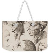 Studies Of Heads Anonimo, Blooteling Abraham Weekender Tote Bag