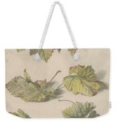 Studies Of Vine Leaves, Willem Van Leen, 1796 Weekender Tote Bag